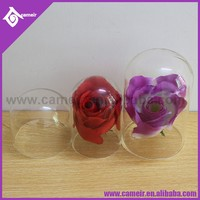 ||Various size::cover,cheese,cake,flower,watch stained crystal glass ceiling dome, with wooden base decorative mini glass dome