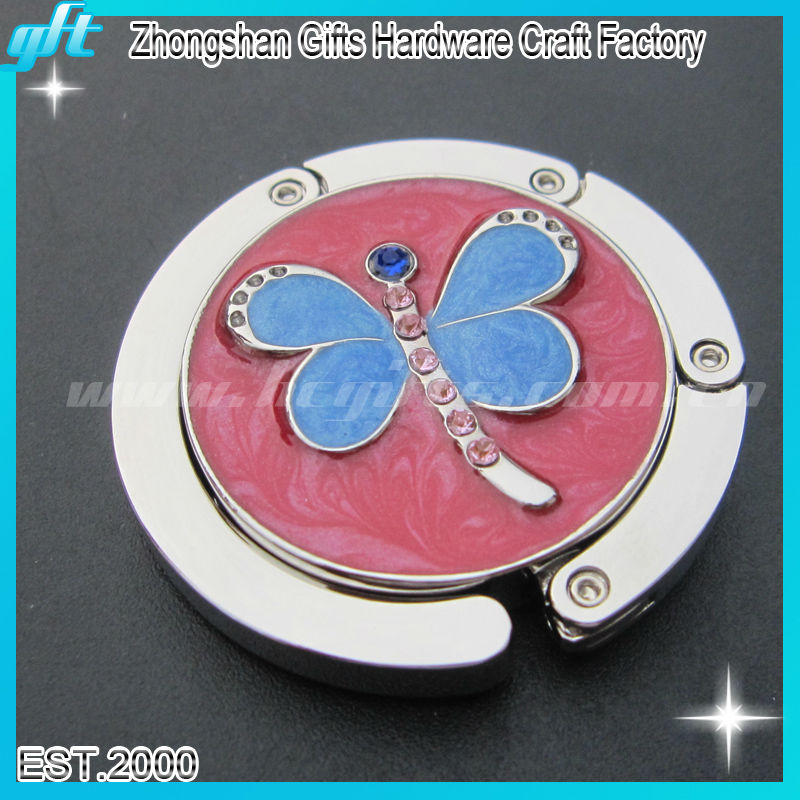 2013 Fashionable butterfly purse hook,purse hanger for table,custom purse hanger