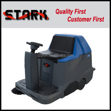 1100/1000 compact driving type battery road sweeping machine with road sweeping brush for sale
