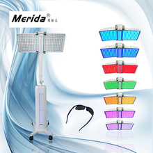 7 color Piranha LED photon led skin rejuvenation +hair stimulation