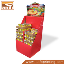 Retail Custom Corrugated Display Pallet Dump Bins For Canned Food