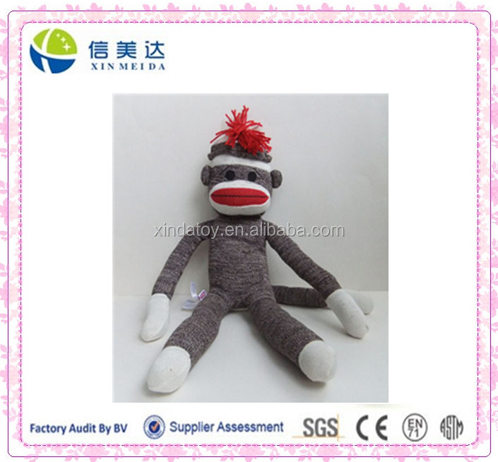 wholesale sock monkey toy stuffed monkey plush toy