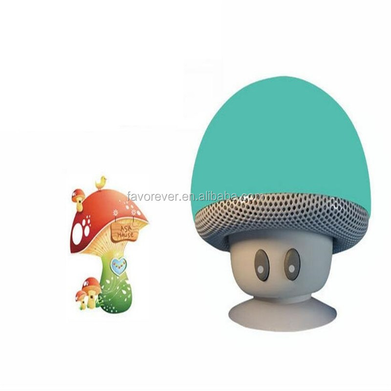 Wireless Bluetooth 3.0 Mini mushroom Speaker with Single Multi-Function Button