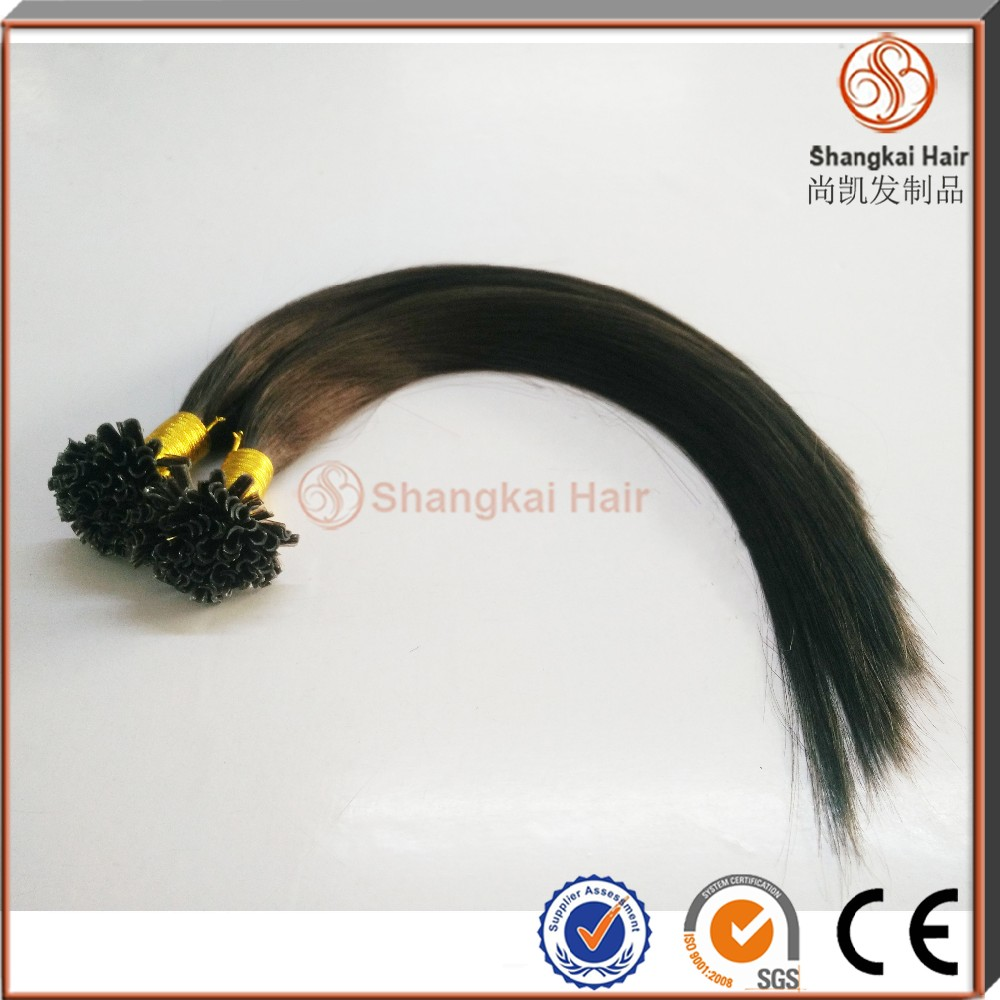 Factory best-selling hair extension best quality remy hair Brazilian hair Natural U tip hair extension