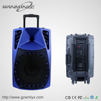 Outdoor Sound System Blue Color Bluetooth Function Speaker With Lamp Trolley Active Woofer Speaker