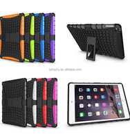 Wholesale TPU Plastice Shatterproof Kickstand Case Hybrid Combo Kid's Tablet Case For iPad Air 2/For ipad 6
