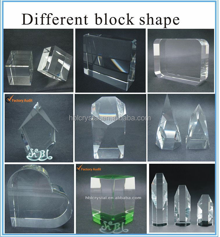 Hot-sale shining k9 blank crystal cubes for engraving