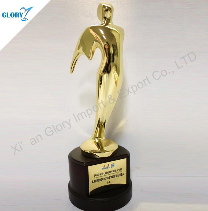 New Gold Star Figurine Custom Metal Trophy
