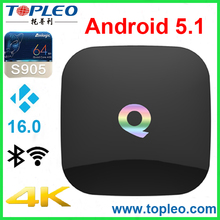 4K Q box Android 5.1 TV Box Amlogic S905 Quad Core KODI 3D 2GB / 16GB