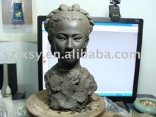 beautiful woman clay/ resin clay sculpture