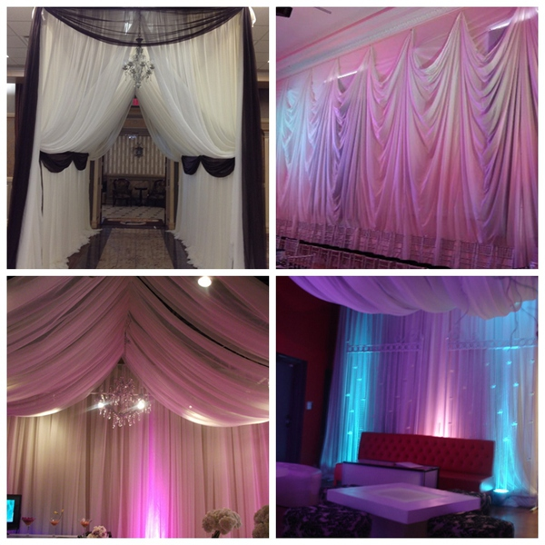 wedding frame tents, used cheap price pipe and drape kits bacdrop