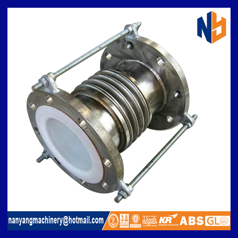 Exhaust bellow axial metal expansion joint