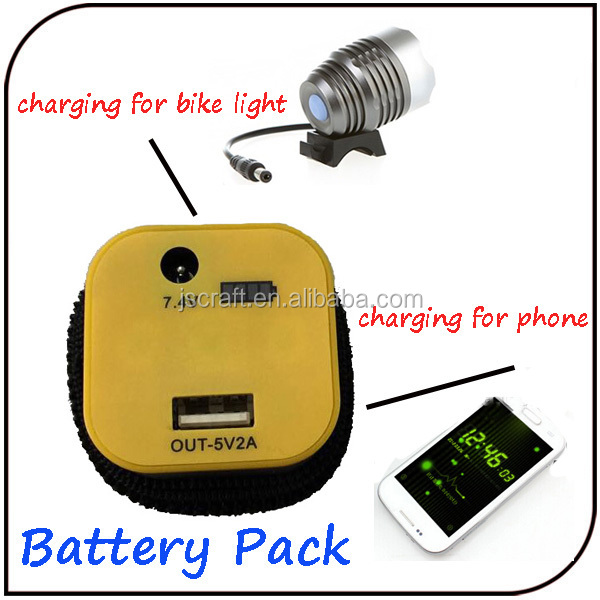 2 in 1 New 1200 lumen high power T6 led bicycle light with 10400mAh USB battery pack
