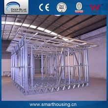 High quality popular low cost prefabricated light steel frame house