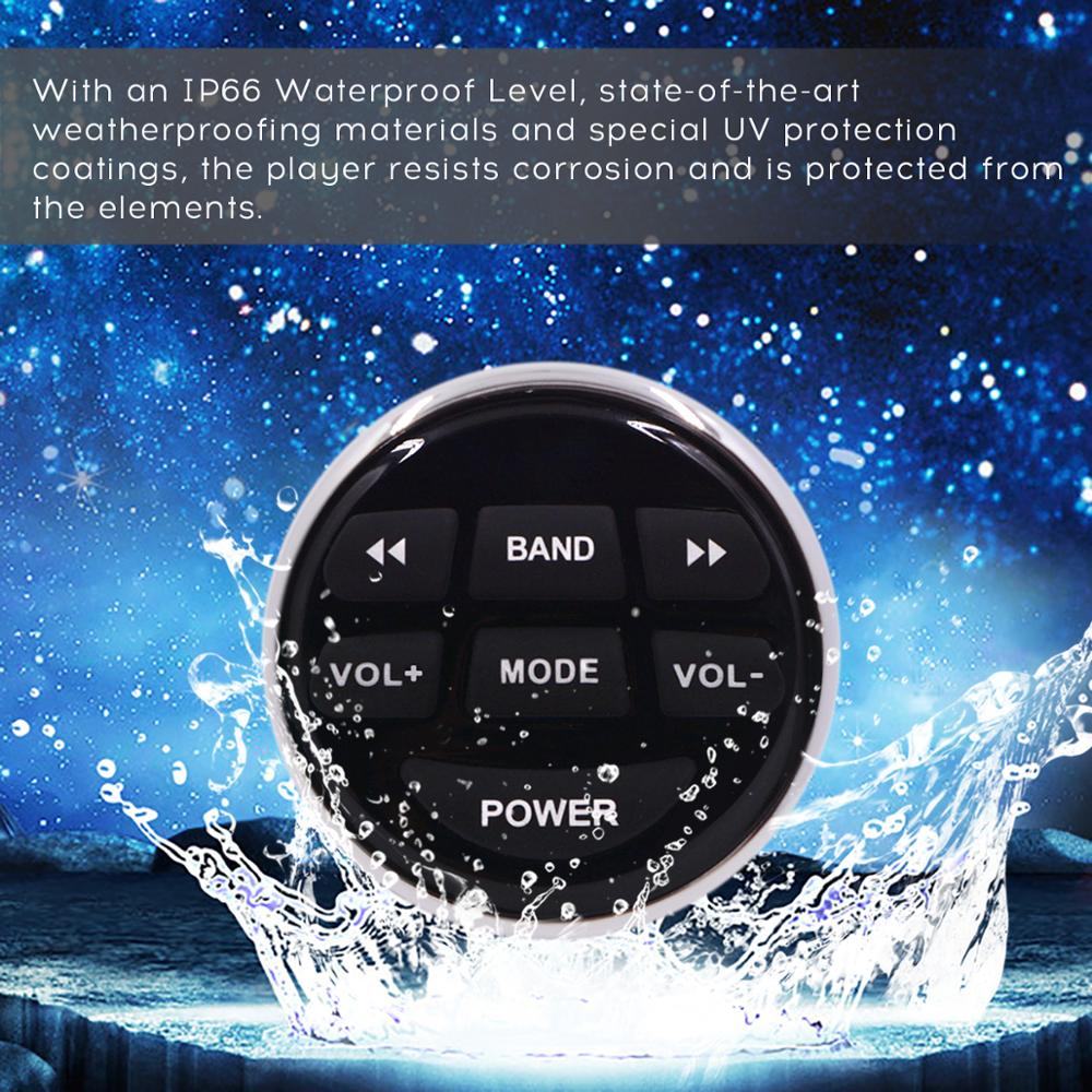popular waterproof marine mp3 radio remote controller with 5-6 meter length