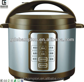 Fashional Designed Stainless steel housing aluminum inner pot mirco-computer type muilt-funcyional electric pressure cooker