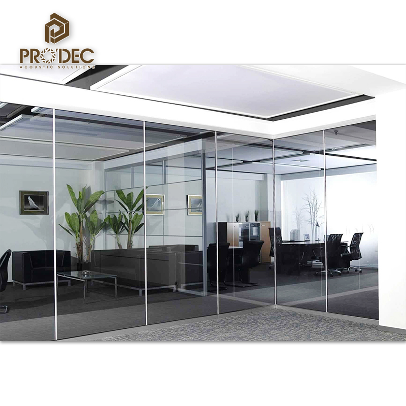 2017 China trending product 83 series Glass Partition Aluminum Frame partition wall