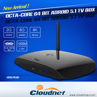 Cloudnetgo rk 3368 google android 5.1 tv box with dual wifi and 4.0 bluetooth free pron 4k ultra decoding h.265 ott tv box