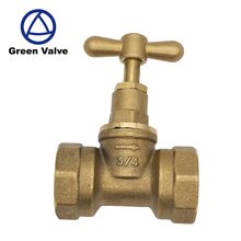 Green-GutenTop Chinese Supplier 1/2'' 3/4'' 1'' brass stop cock valve globe valve/stopcock for water use