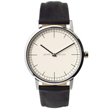 High quality sapphire crystal glass genuine leather stainless steel fashion watch