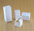White Cardboard Goods Merchandise Inner Package Box Custom Logo Printing Folding Paper Plain White Packing Boxes