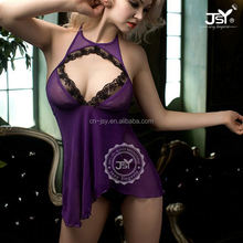 2017 Asian Babydoll Lingerie Sexy Transparent Purply Babydoll Sexy Adult Girl Babydoll Open