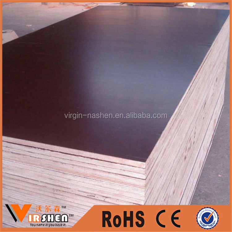 18mm thick black/brown Waterproof Construction Plywood/Film Faced Plywood/Shuttering Plywood sheet prices