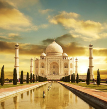 Cheap wholesale famous place Taj Mahal India painting on canvas