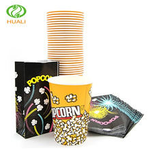 24 oz wholesale product custom printed popcorn bucket with lid