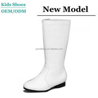Spring Fashion Girl Handsome Dress Nice Best Price PU Material Cheap White Boots for Kids
