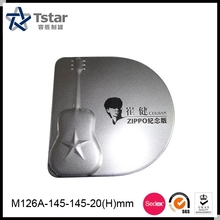 Fashionable oval shape metal CD box/ case