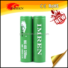 IMREN 3200MAH HIGH DRAIN 40A 18650 LI-ON BATTERY with wholesale price