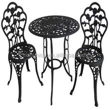 3PC ROSE CAST IRON BISTRO SET