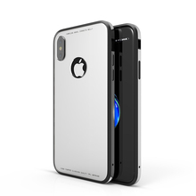 New Arrival Full Cover Luxury 4 in 1 TPU+PC+Aluminum Tempered Glass Fashion Back Case Cover for Smartphone for iPhone X