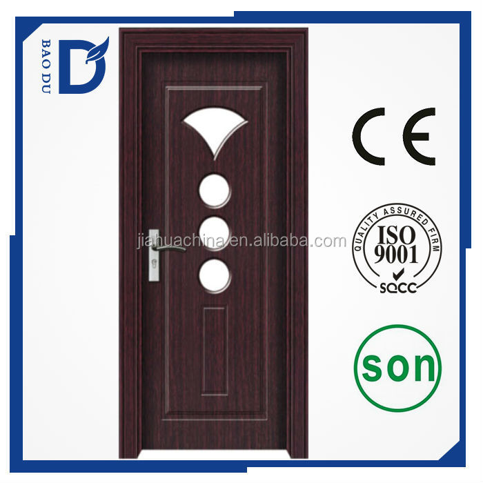 china alibaba interior home mdf pvc wrapped doors for sale