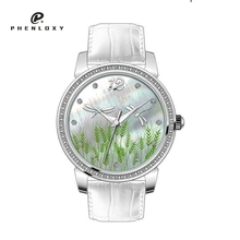 Fashion ladies fancy stainless steel back 3atm water resistant wrist watches