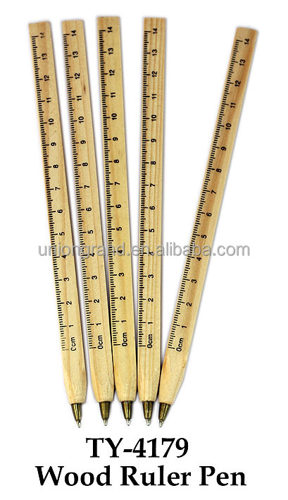 Cheap Wood Ruler Pen