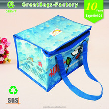 6 pack cans outdoor picnic bulk cooler bag with customized color
