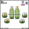 hot sale empty cosmetic cream jar with aluminum cap skin care glass lotion bottle with lid china wholesale in stock