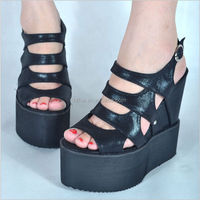2014 new korea roman fashion women's fish mouth wedge sandals