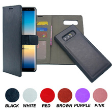 PU Leather Protective Shell Detachable Folio Flip Carrying Case for Samsung Galaxy Note 8