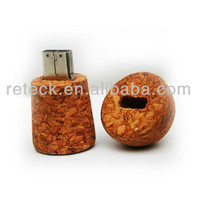 corporate gift recycled wood wine cork shape usb flash drive