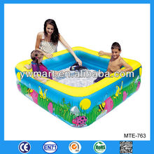 Durable inflatable square swimming pool, inflatable square swimming pool for kids
