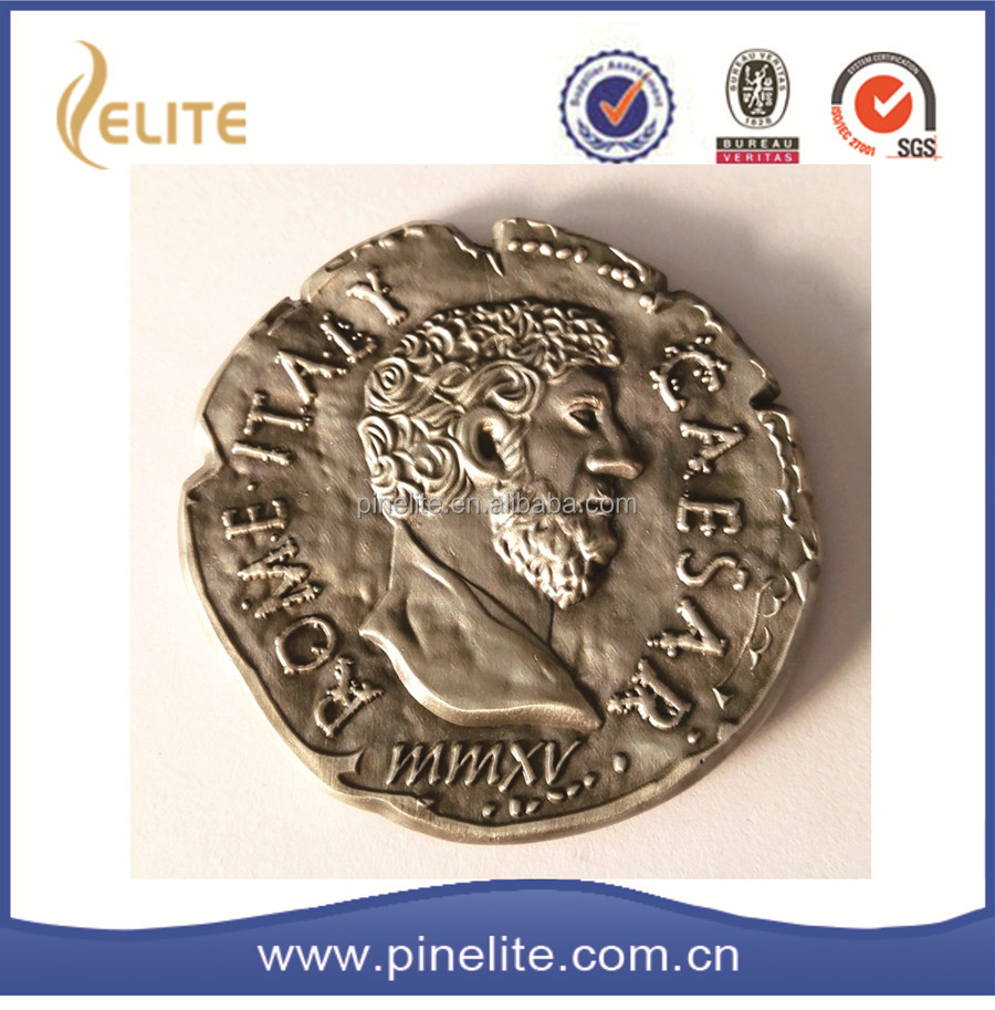 2016 wholesale good quality antique 3D silver coin,ancient coin roman for gifts