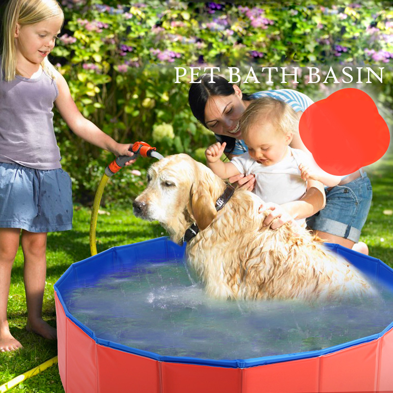 pet products large PVC foldable swimming pool bathtub for small <strong>dog</strong> and cat Teddy