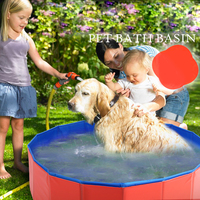 pet products large PVC foldable swimming pool bathtub for small dog and cat Teddy