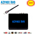 High definition digital type TV satellite receiver AZfree duo with FTA iks sks wifi antenna for south America