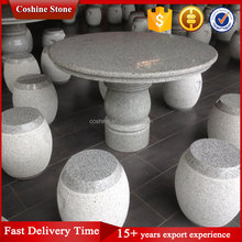 Cheap outdoor garden furniture stone table and chair