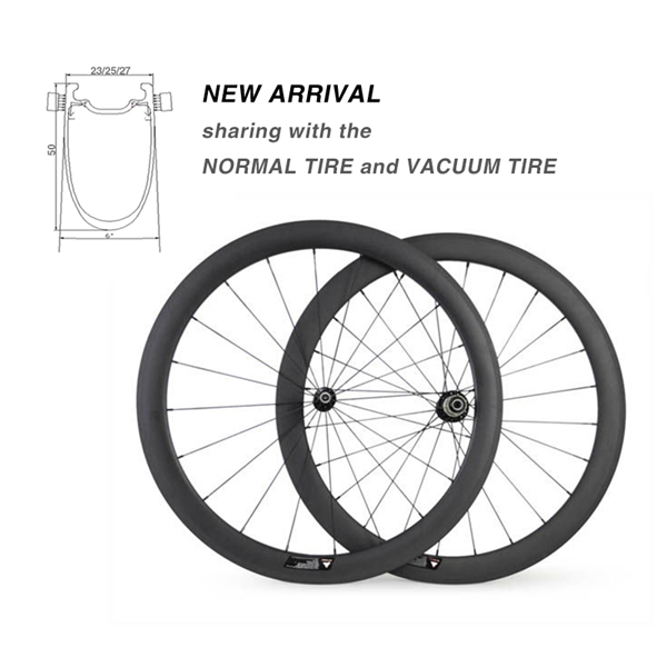 2016 new Carbon Bicycle Wheels,27/25/23 Width Carbon Road 50mm Wheelset,Bike Wheel Carbon