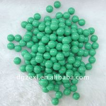 Green unhole plastic loose beads